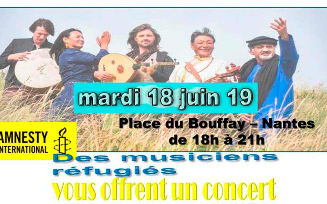18 juin 2019 : concert « musique du monde » – Place du Bouffay, Nantes
