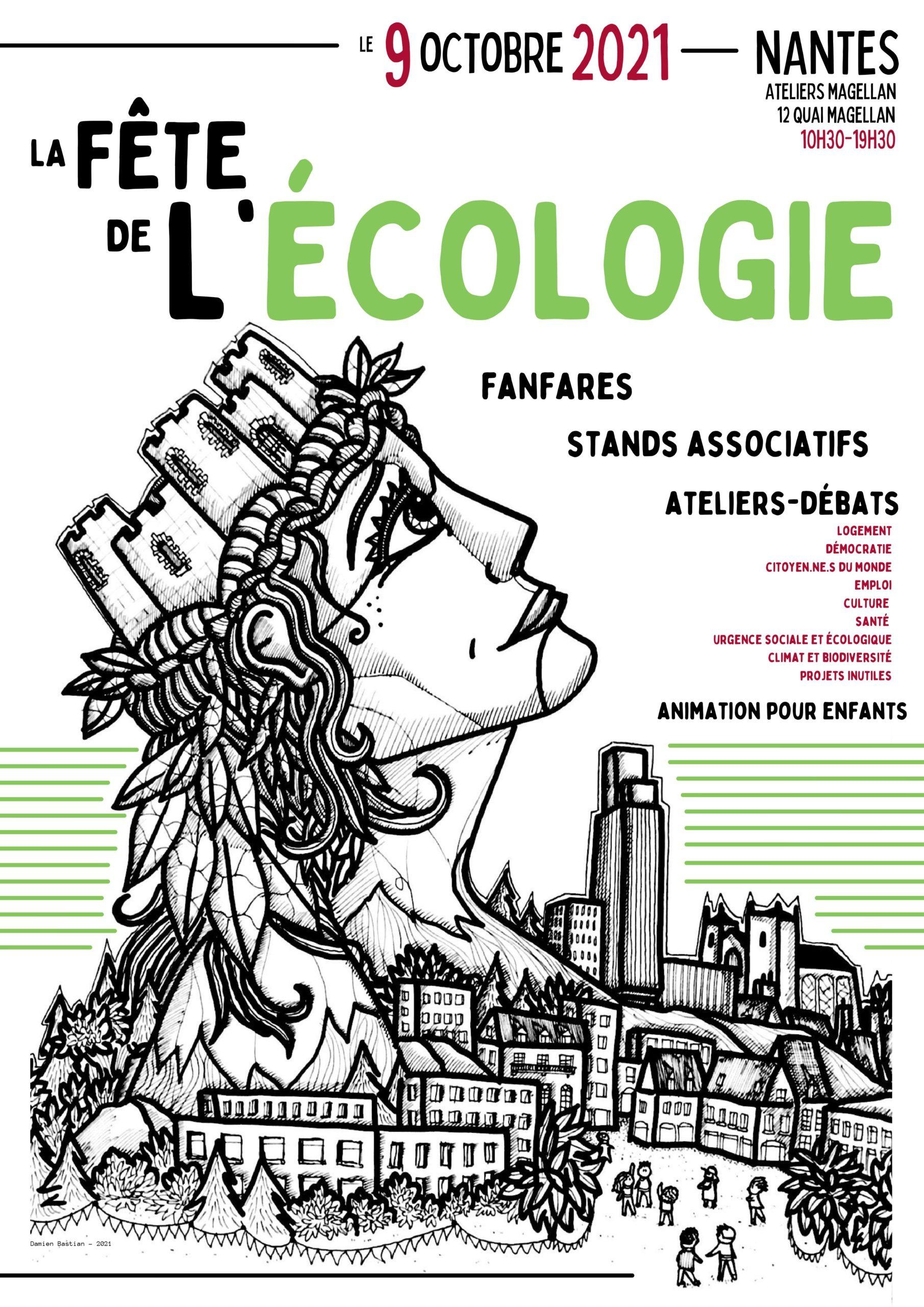 Affiche Fête de l'écologie 9oct2021 Nantes
